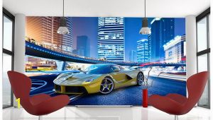 Super Car Wall Mural High Quality Custom 3d Wallpaper Murals Wall Paper to Enjoy the Cool Sports Car Murals Tv Wallpaper Decoration Living Room Wallpaper Wallpaper