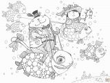 Super Cute Animal Coloring Pages 49 Christmas Scene Printable Coloring Pages