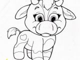 Super Cute Animal Coloring Pages Image Detail for Coloring Page with Cute Cow Cow Line Art Coloring