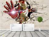 Super Hero Wall Mural 3d View Iron Man Wallpaper Giant Wall Murals Cool
