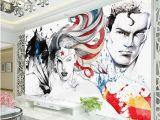 Super Hero Wall Mural Tanie Wonder Woman Batman Justice League 3d Fototapety