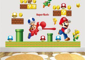 Super Mario Bros Wall Mural Hot Sale New Cartoon Wall Sticker Super Mario Bros Vinyl Removable Decals Kids Nursery Uk 2019 From Billshuiping Gbp ï¿¡ï¿¡2 37