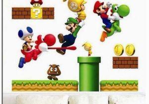 Super Mario Bros Wall Mural Ipiggy Super Mario Bros Home Kid Decal Art Mural Wall Vinyl