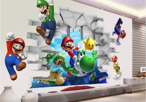 Super Mario Bros Wall Mural Kids Bedroom Decals Dekor