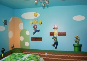 Super Mario Bros Wall Mural Mario Bedroom Varios