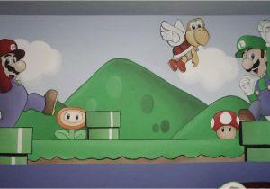 Super Mario Bros Wall Mural Super Mario Bros Nursery Mural
