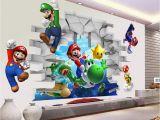 Super Mario Wall Mural 3d Vinyl Wand Aufkleber Gelegentlich Aufkleber Etiketten
