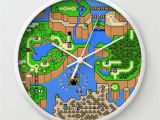 Super Mario Wall Mural the World Of Super Mario Wall Clock