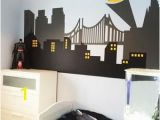 Superhero Cityscape Wall Mural Wall Decal Baby Room Avengers Wall Decor Peel and Stick