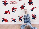 Superhero Wall Mural Stickers Diy 11 Pose Spiderman Decorative Wall Stickers for Nursery Kids Room