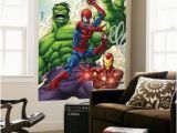 Superhero Wall Mural Stickers Marvel Adventures Super Heroes No 1 Cover Spider Man Iron Man and