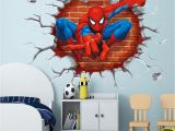 Superhero Wall Murals Uk 45 50cm 3d Popular Spiderman Cartoon Movie Home Decal Wall Sticker Adesivo De Parede for Kids Room Decor Child Gifts Wallpaper Wall Decals Uk Wall