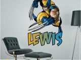 Superhero Wall Murals Uk Wolverine Superhero Superheroes Personalised Customised Wall Sticker Boys Bedroom Decal