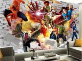 Superhero Wall Murals Wallpaper Avengers Wallpaper 3d Wallpaper Hulk Iron Man Superman Custom