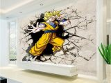Superhero Wall Murals Wallpaper Dragon Ball Wallpaper 3d Anime Wall Mural Custom Cartoon