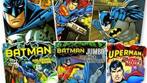 Superman Jumbo Coloring and Activity Book Bendon Publishing Dc Ics Batman & Superman Coloring and Activity Book Super Set 6 Books Stickers Posters and More
