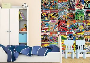 Superman Wall Murals 1 Wall Wallpaper Mural Ics Batman Superman Wonder Woman the Flash