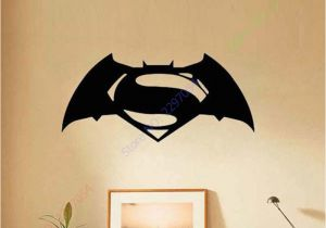 Superman Wall Murals Batman Superman Wall Stickers for Kids Rooms Removable Decoration