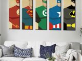 Superman Wall Murals Oil Painting Frameless Watercolor Art Prints Poster Hipster Wall