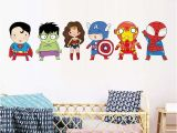 Superman Wall Murals Superhero Wall Stickers Kids Boy Bedroom Decor Batman Superman Vinyl