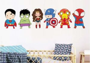 Superman Wall Murals Superhero Wall Stickers Kids Boy Bedroom Decor Batman Superman Vinyl