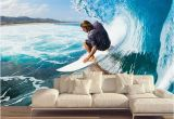 Surfing Wall Murals Custom Murals 3d Surfing Wallpapers House Decor Wall Paper