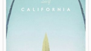 Surfing Wall Murals Posters California as Premium Poster by Henry Rivers