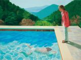 Swimming Pool Wall Murals Hockney S Portrait Of An Artist Pool with Two Figures