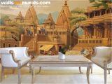Swimming Pool Wall Murals Varanasi Ganga Ghat Traditional Wall Mural