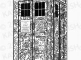 Tardis Printable Coloring Pages Tardis Dr who Adult Coloring Page