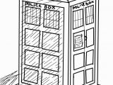 Tardis Printable Coloring Pages the Tardis Coloring Page