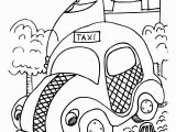 Taxi Coloring Page Free Taxi Coloring Sheet Create A Printout Activity