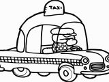Taxi Coloring Page Taxi Driver Car Cartoon Coloring Page Transportation Pages for Kids