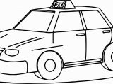 Taxi Coloring Page Taxi Driver Fine Car Coloring Page