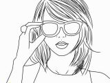 Taylor Swift Black and White Coloring Pages Swift Drawing at Getdrawings