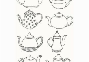 Tea Kettle Coloring Page Open Your Eyes & See Found On Polyvore Art Yaa Pinterest