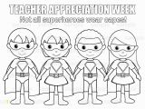 Teacher Appreciation Coloring Pages Printable Instant Download Printable Superhero Teacher by