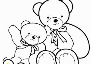 Teddy Bear Coloring Pages for Kids Teddy Bear Big Teddy Bear and Smaller Teddy Bear Coloring