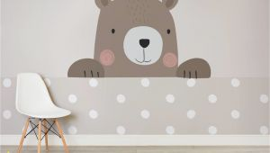 Teddy Bear Wall Mural Cute Cartoon Bear Wallpaper