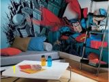 Teen Boy Wall Mural Superior Decorating for the Superhero S Abode