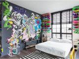 Teen Boy Wall Mural Teenager Schlafzimmer Graffiti Skateboards Wanddeko