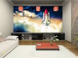 Teenage Wallpaper Murals Space Shuttle Wallpaper Mural Boy Room Cosmos Wall Art Teenager