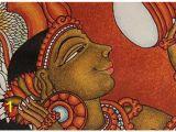 Terracotta Wall Murals Kerala Kerala Canvas Mural Of A Lady