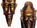 Terracotta Wall Murals Online Hand Art Terracotta Wall Hanging Decorative Mask Decoratives Mask Multi Pack Of 2