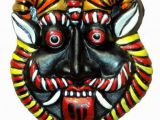 Terracotta Wall Murals Online Hand Art Terracotta Wall Hanging Nazar Battu Decoratives Mask Multi Pack Of 1