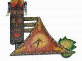 Terracotta Wall Murals Online Handmade Wooden Wall Hanging Watch