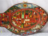 Terracotta Wall Murals Online Mexican Clay Pottery Wall Plate Festive Folk Art Hand