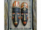 Terracotta Wall Murals Online Tatvam Terracotta Handmade Tribal Face Mask Wall Hanging