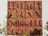 Terracotta Wall Murals Online Terracotta Tiled Wall Mural Picture Of Chitra Katha
