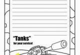 Thank You Coloring Pages for Troops for Kids to Make to Mail American Flag